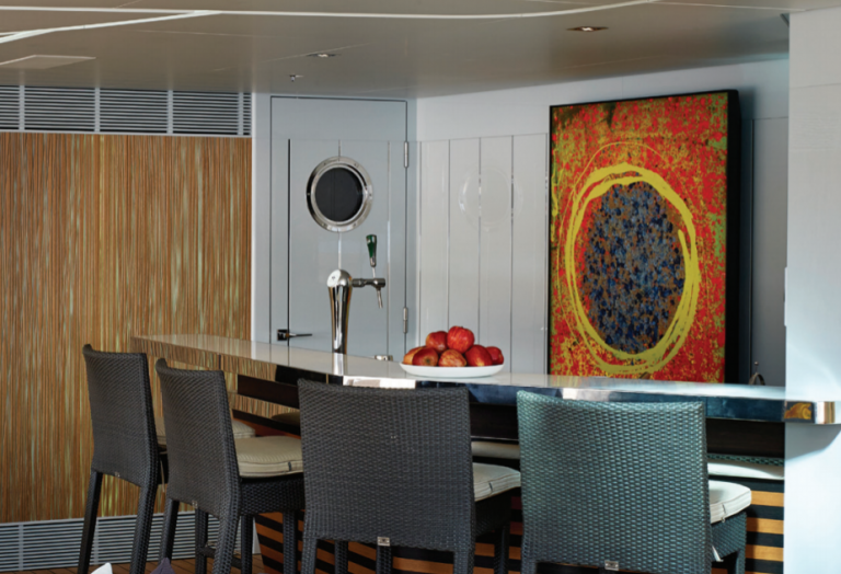 Art on Deck onboard Galactica Star Superyacht